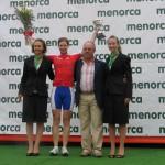 Anna Beyer bei der Siegerehrung
