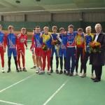 Preisträger im Punktefahren der Jugend und Junioren mit Sponsor Herrn Peter W. Streng